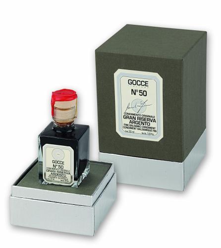 J0370 Balsamic Condiment Riserva Argento - 50 Travasi (50 ml - 1.69 fl. oz)