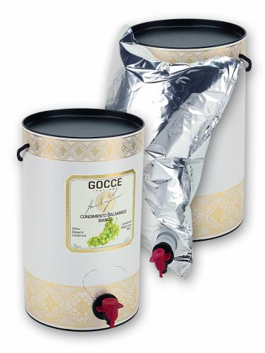 J0850  White Balsamic Condiment - Bag in tube   (3000 ml - 111.44 fl. oz)