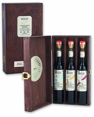 K1600 Coffret bois 3 condiments balsamiques (3x100ml-3x3.38 fl. oz)