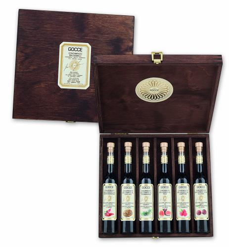 K1618 Wood set with 6 Flavoured Condiments  (6x100 ml - 6x3.38 fl. oz)