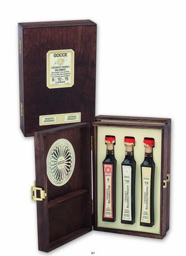 K1622 Coffret bois 3 condiments balsamiques (3x40ml - 3x1.35fl. oz)